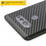 LG V20 Screen Protector + Black Carbon Fiber Skin