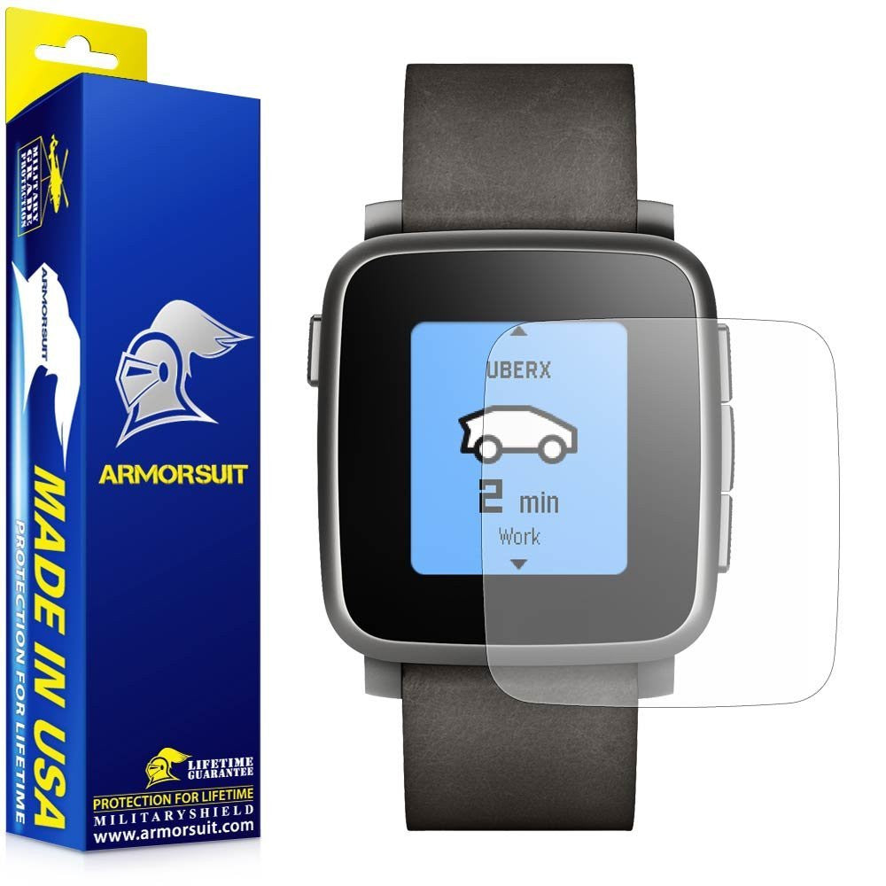 Pebble Time Steel Anti-Glare (Matte) Screen Protector [2-Pack]
