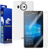 Microsoft Lumia 950 XL Screen Protector + White Carbon Fiber Skin