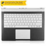 Microsoft Surface Book Black Carbon Fiber Full Body Skin Protector (Keyboard Only)