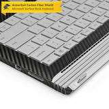 Microsoft Surface Book Screen Protector + Black Carbon Fiber Full Body Skin Protector  (Tablet & Keyboard)