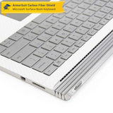 Microsoft Surface Book Screen Protector + White Carbon Fiber Full Body Skin Protector (Tablet & Keyboard)