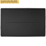 Microsoft Surface Pro 2 Screen Protector + Black Carbon Fiber Film Protector