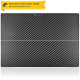 Microsoft Surface Pro 3 Screen Protector + Black Carbon Fiber Film Protector