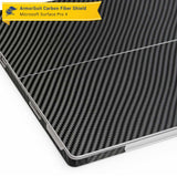 Microsoft Surface Pro 4 Screen Protector + Black Carbon Fiber Film Protector