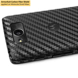 Motorola Droid Maxx Screen Protector + Black Carbon Fiber Film Protector