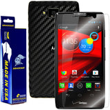Motorola Droid Razr Maxx HD Screen Protector + Black Carbon Fiber Film Protector