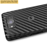 Motorola Droid Ultra Screen Protector + Black Carbon Fiber Film Protector
