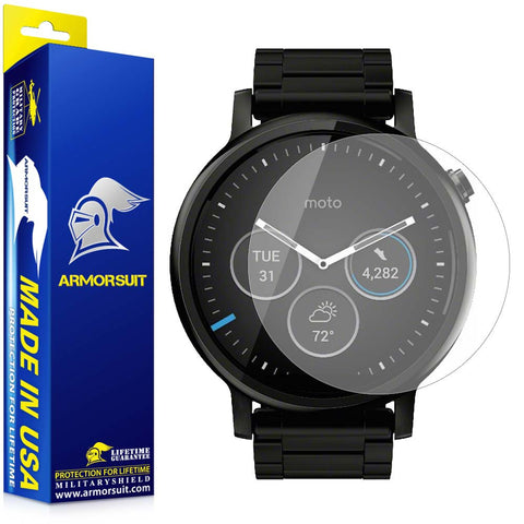 Motorola Moto 360 46mm 2nd Generation 2015 Matte (Anti-Glare) Screen Protector (2-pack)