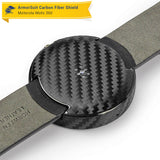 Motorola Moto 360 23mm Screen Protector + Black Carbon Fiber Film Protector