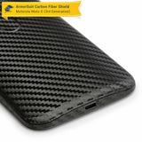 Motorola Moto G (3rd Generation 2015) Screen Protector + Black Carbon Fiber Full Body Skin Protector
