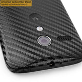 Motorola Moto G (1st Generation) Screen Protector + Black Carbon Fiber Film Protector