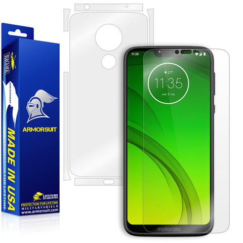 Motorola Moto G7 Power Screen Protector + Full Body Skin Protector