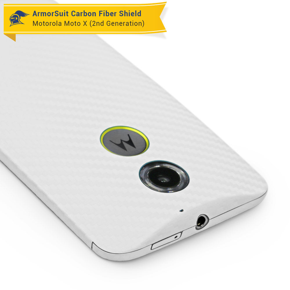 motorola phone white. motorola moto x (2nd generation 2014) screen protector + white carbon fiber skin phone