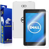 New Dell Venue 7 (2014) Screen Protector + White Carbon Fiber Skin Protector