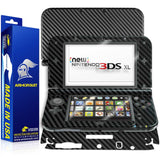 New Nintendo 3DS XL (2015) Screen Protector + Black Carbon Fiber Skin