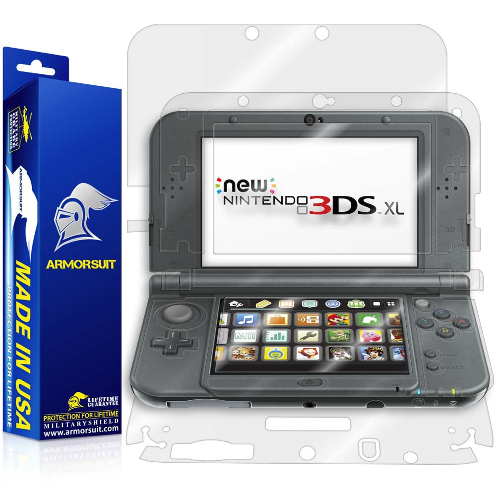 new nintendo 3ds xl 2015 screen protector armorsuit. Black Bedroom Furniture Sets. Home Design Ideas