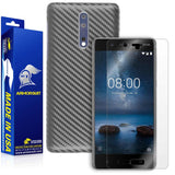 Nokia 8 Screen Protector + Black Carbon Fiber