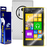 Nokia Lumia 1020 Screen Protector + White Carbon Fiber Film Protector