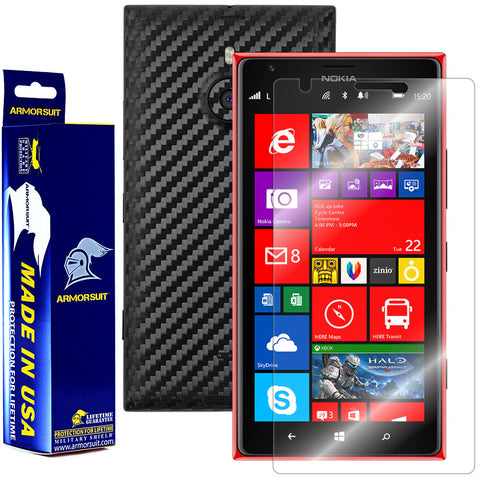 Nokia Lumia 1520 Screen Protector + Black Carbon Fiber Film Protector