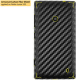 Nokia Lumia 520 Screen Protector + Black Carbon Fiber Skin