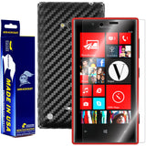Nokia Lumia 720 Screen Protector + Black  Carbon Fiber Film Protector