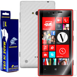Nokia Lumia 720 Screen Protector + White Carbon Fiber Film Protector