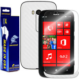 Nokia Lumia 822 Screen Protector + White Carbon Fiber Film Protector