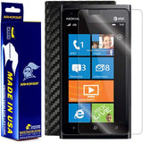 Nokia Lumia 900 Screen Protector + Black Carbon Fiber Film Protector
