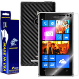 Nokia Lumia 925 Screen Protector + Black Carbon Fiber Film Protector