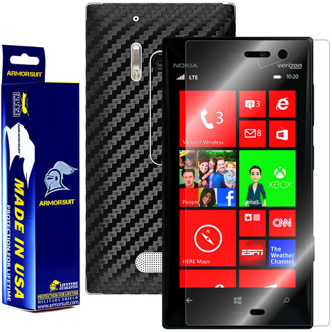 Nokia Lumia 928 Screen Protector + Black Carbon Fiber Film Protector