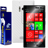 Nokia Lumia 928 Screen Protector + White Carbon Fiber Film Protector
