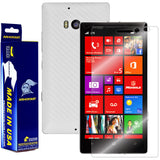 Nokia Lumia Icon Screen Protector + White Carbon Fiber Film Protector