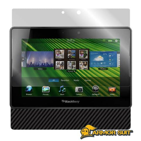 Blackberry Playbook Screen Protector & Black Carbon Fiber Skin Protector