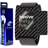 Pebble Smartwatch Screen Protector + Black Carbon Fiber Film Protector