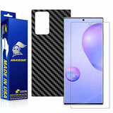 Samsung Galaxy Note 20 Ultra Black Carbon Fiber Skin Screen Protector