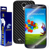 Samsung Galaxy S4 Screen Protector + Black Carbon Fiber Film Protector