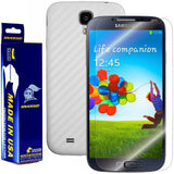 Samsung Galaxy S4 Screen Protector + White Carbon Fiber Film Protector