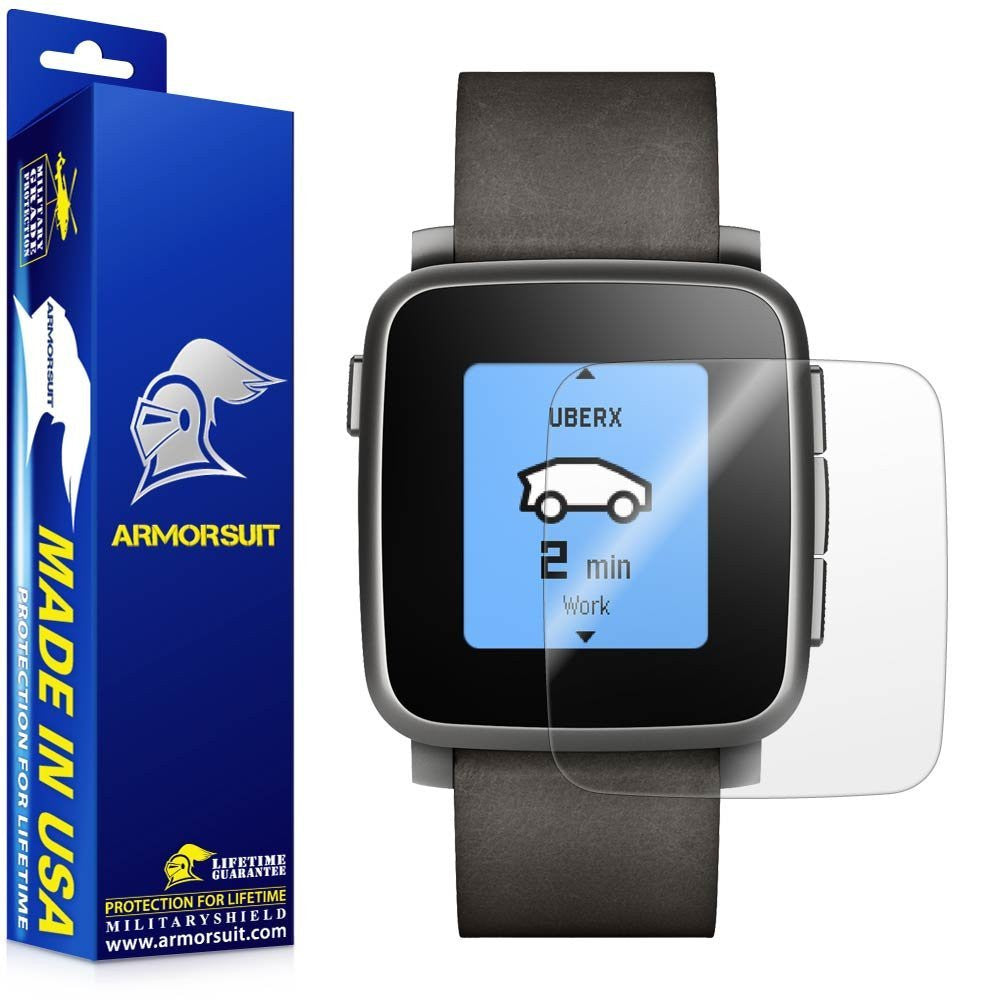 Pebble Time Steel Screen Protector [2-Pack]
