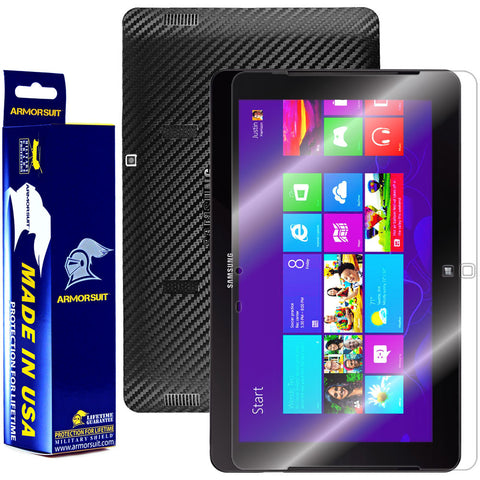 Samsung ATIV Smart PC Pro 700T Screen Protector + Black Carbon Fiber Film Protector