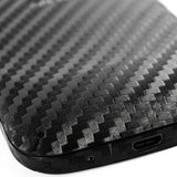 Samsung Galaxy Exhilarate Screen Protector + Black Carbon Fiber Skin Protector