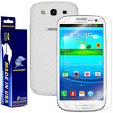 Samsung Galaxy S3 Screen Protector + White Carbon Fiber Film Protector