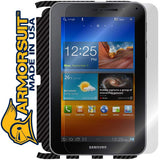 Samsung Galaxy Tab 7.0 Plus Screen Protector + Black Carbon Fiber Skin Protector
