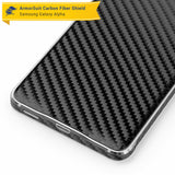 Samsung Galaxy Alpha Screen Protector + Black Carbon Fiber Skin