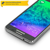 Samsung Galaxy Alpha Screen Protector + White Carbon Fiber Skin