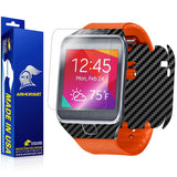 Samsung Galaxy Gear 2 Screen Protector + Black Carbon Fiber Film Protector