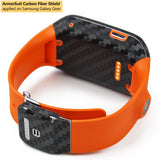Samsung Galaxy Gear Screen Protector + Black Carbon Fiber Skin Protector