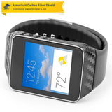 Samsung Galaxy Gear Live Screen Protector + Black Carbon Fiber Film Protector