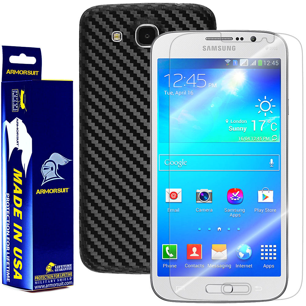 Samsung Galaxy Mega 5.8 Screen Protector + Black Carbon Fiber Film Protector