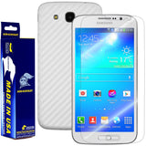 Samsung Galaxy Mega 5.8 Screen Protector + White Carbon Fiber Film Protector